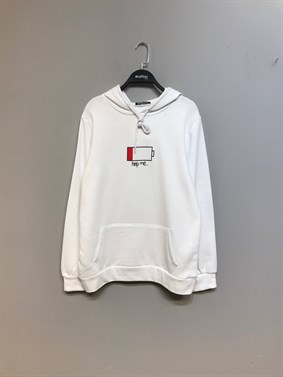 Beyaz Help Me Battery Sweatshirt