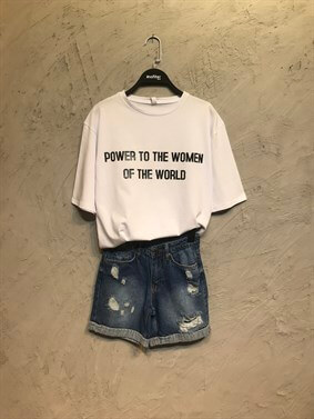 Beyaz Women Power Tshirt