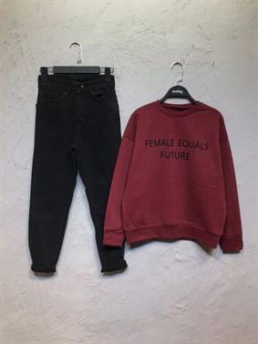 Bordo Female Equals Future Sweatshirt