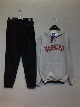 Gri Harvard Sweatshirt