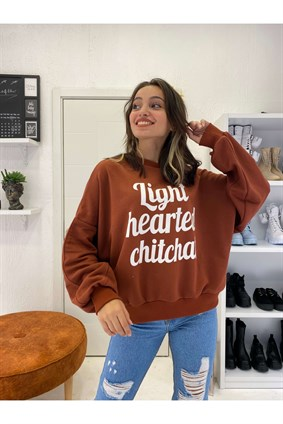 Kiremit Light Hearted Sweatshirt