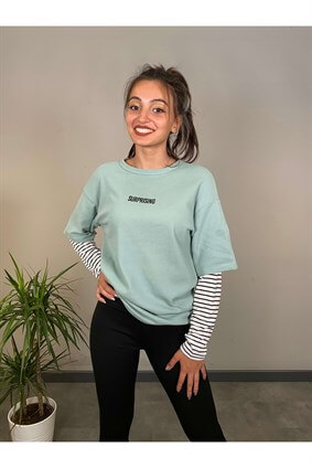 Mint Nobody Else Ikili Kol Sweatshirt