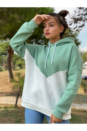 Mint V Blok Sweatshirt