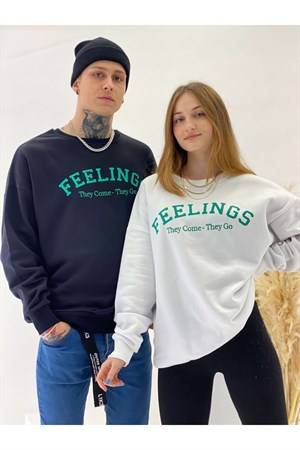 SweatshirtSiyah Feelings Sweatshirt