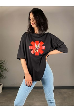 Siyah Red Hot Chili Peppers Tshirt