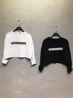 Siyah Wondrous Crop Sweatshirt